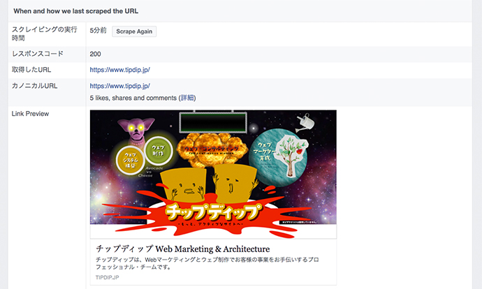 facebook for develpers デバッガーページ