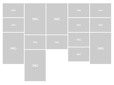 JQueryのMasonryを使って、画像をタイル状に並べる